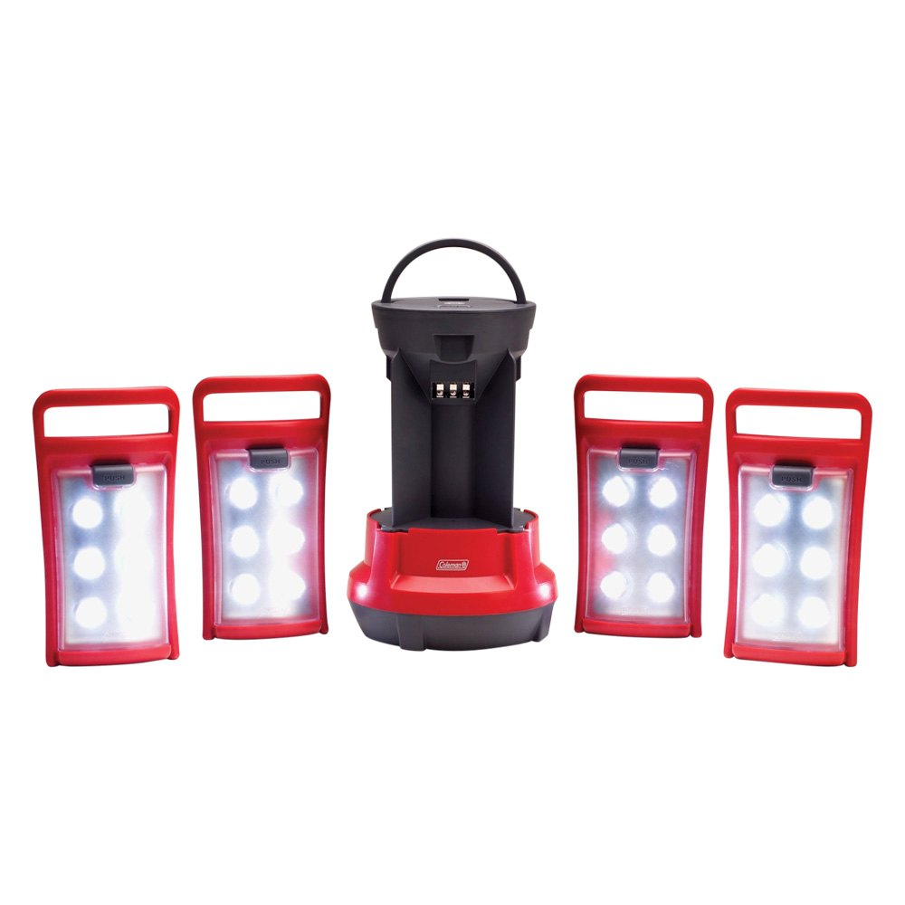 Coleman 2000001150 - Rechargeable Camping Light LED Quad Lanterns with Handle
