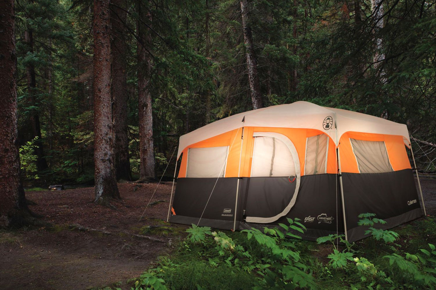 Coleman jenny lake fast pitch 8 person cabin tent for What is a tent cabin