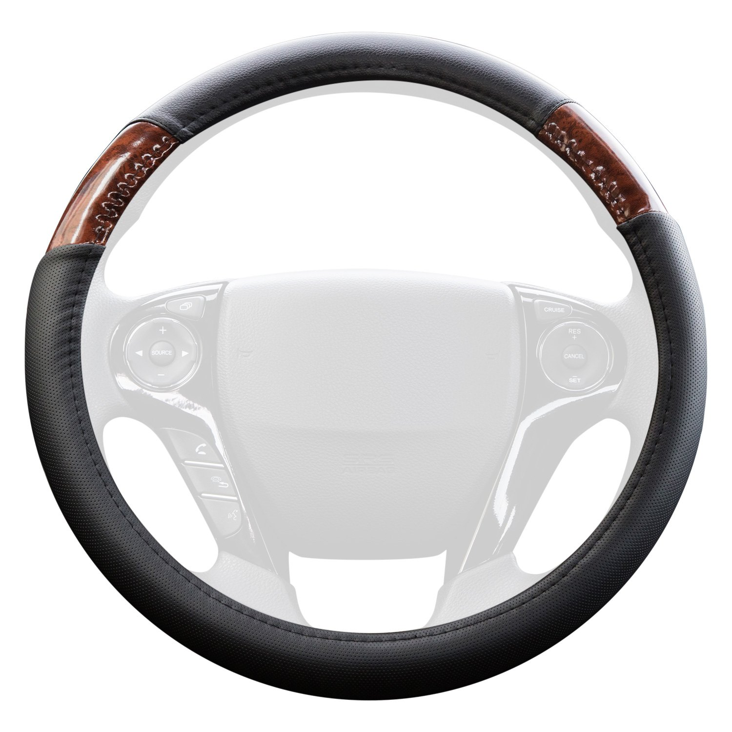 Genuine leather steering wheel cover - the perfect item to upgrade a worn or scuffed steering wheel or simply to achieve that leather steering wheel look with ease.
