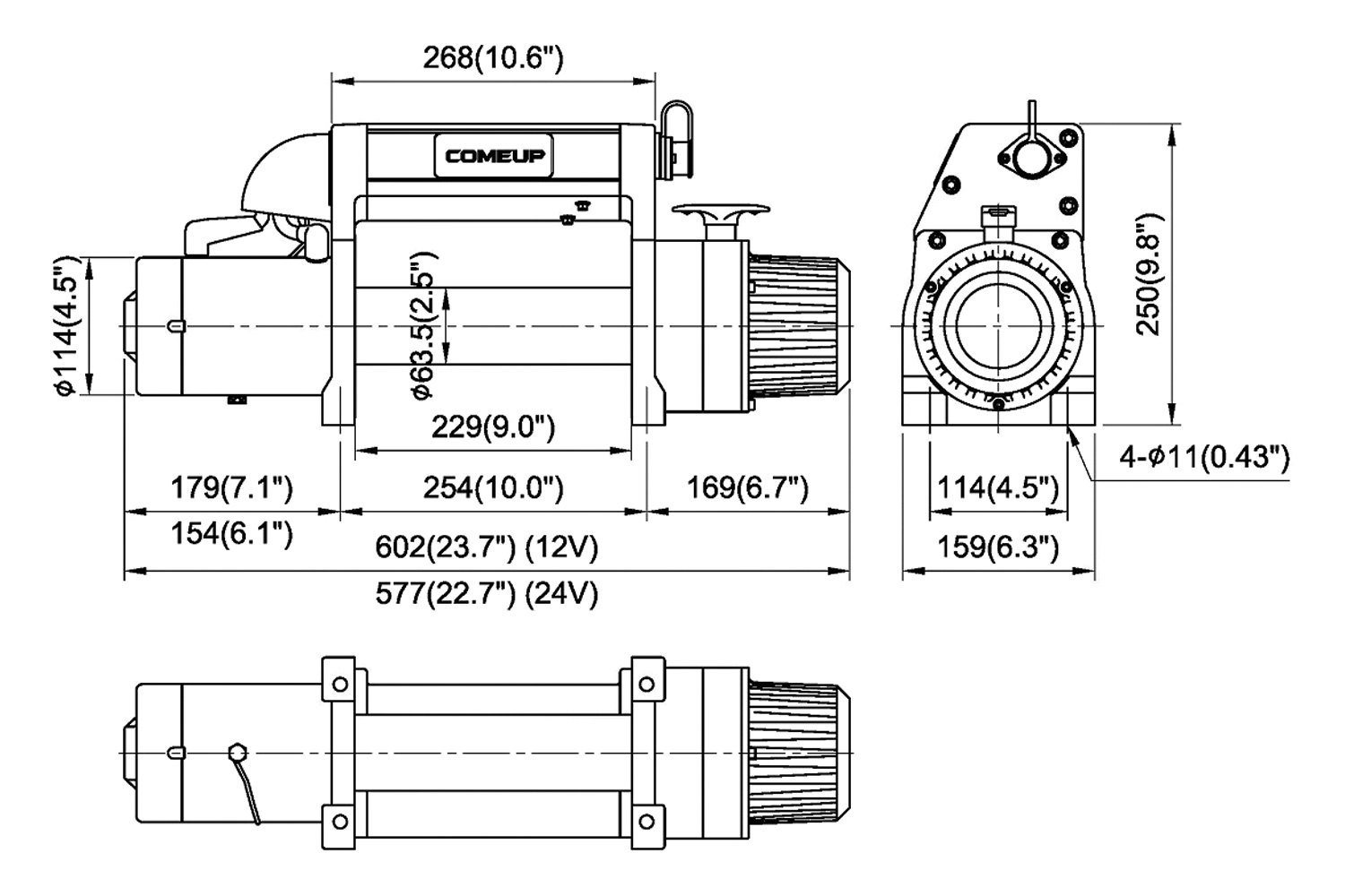Comeup Dv Electric Winch With 2 Solenoids Wiring Diagram Wire Rope And Discrete Solenoidcomeup Synthetic