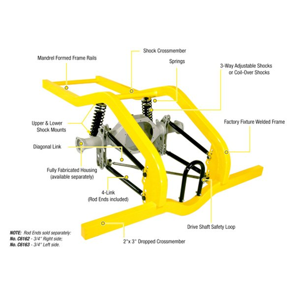 Competition Engineering® - Magnum Series™ 4-Link Frame Kit