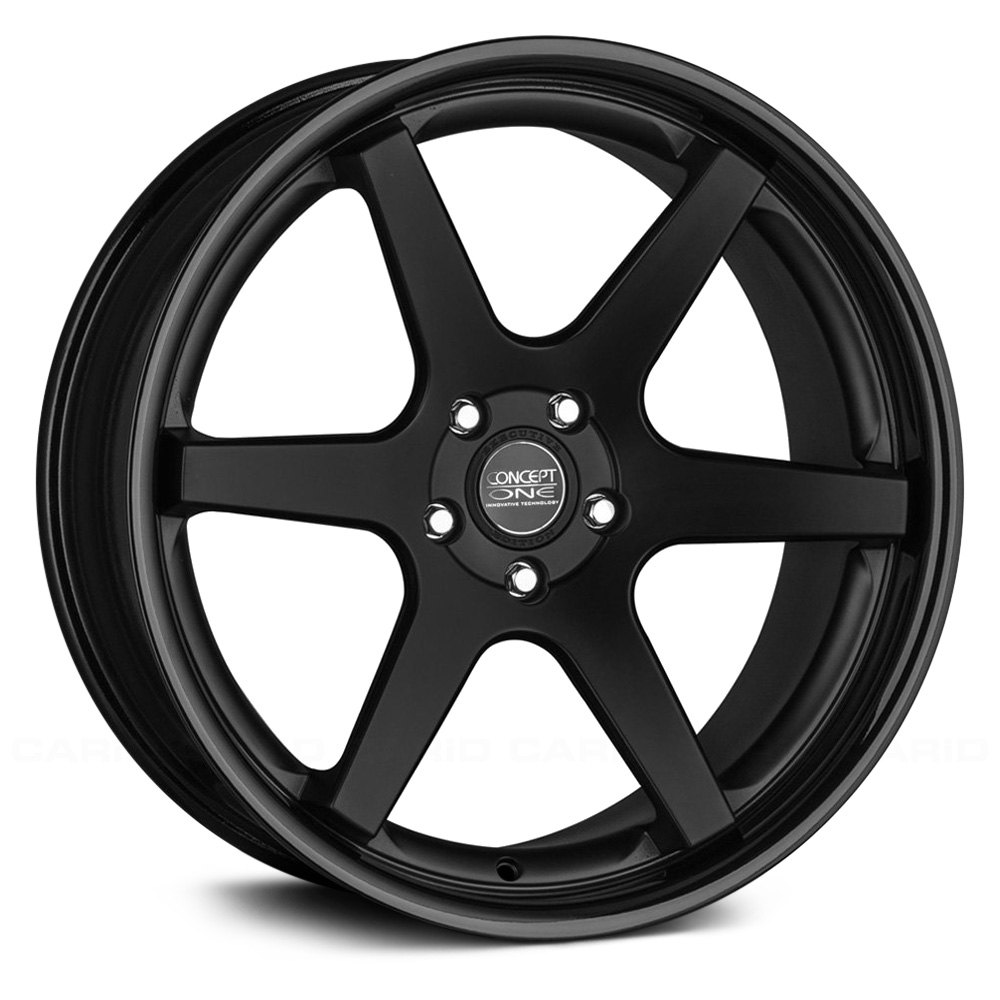 Truck chevy concept one truck : CONCEPT ONE® CS 6.0 Wheels - Matte Black with Gloss Black Lip Rims