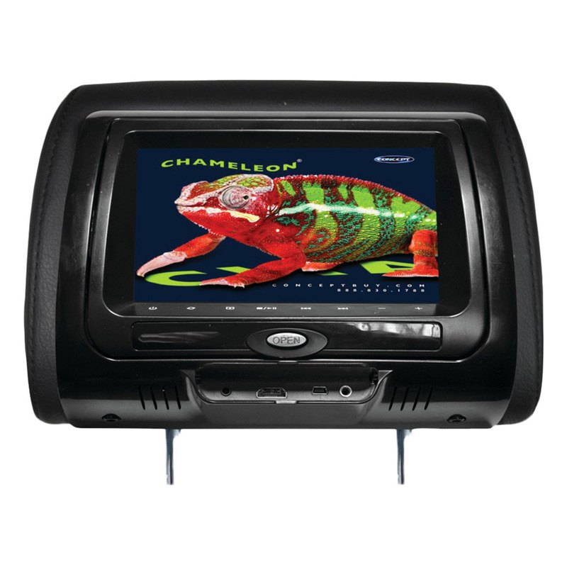 Concept headrest dvd player