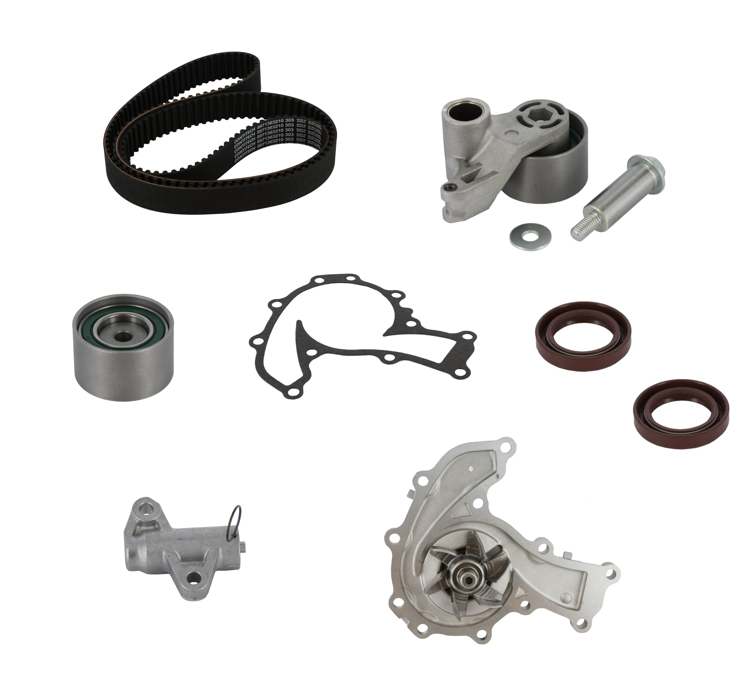 Continental Contitech Pp303lk1 Pro Series Plus Timing Belt Kit 1999 Isuzu Rodeo Water Pump With Pumpcontinental