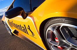CONTINENTAL® - Tires on Yellow Lamborghini