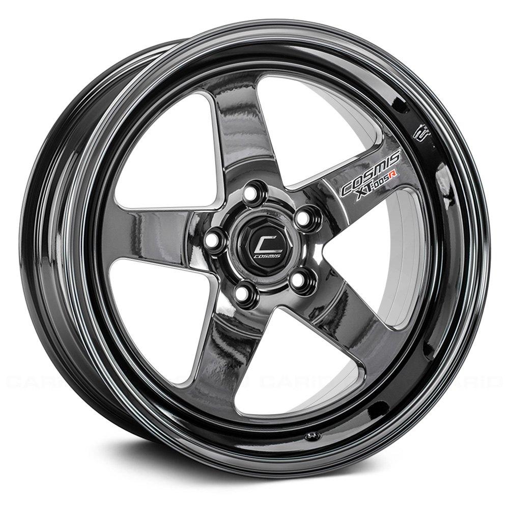Re Chrome Rims >> Cosmis Racing Xt 005r Black Chrome 20 X 9 5 15 Offset 6x139 7 Bolt Pattern 106mm Hub