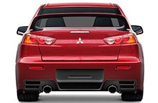 Couture® - C-Speed Rear Bumper on Mitsubishi Evolution X