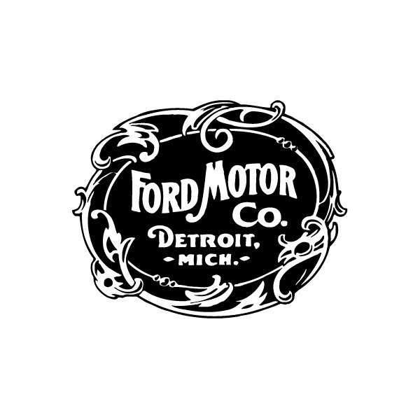 Black And White Ford: Front Silkscreen Ford Heritage Logo