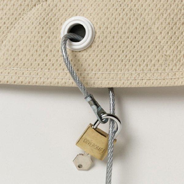 Car Cover Lock Kit : Covercraft zcbl optional cable lock kit