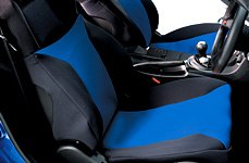 Covercraft® - Black/Blue Seat Cover