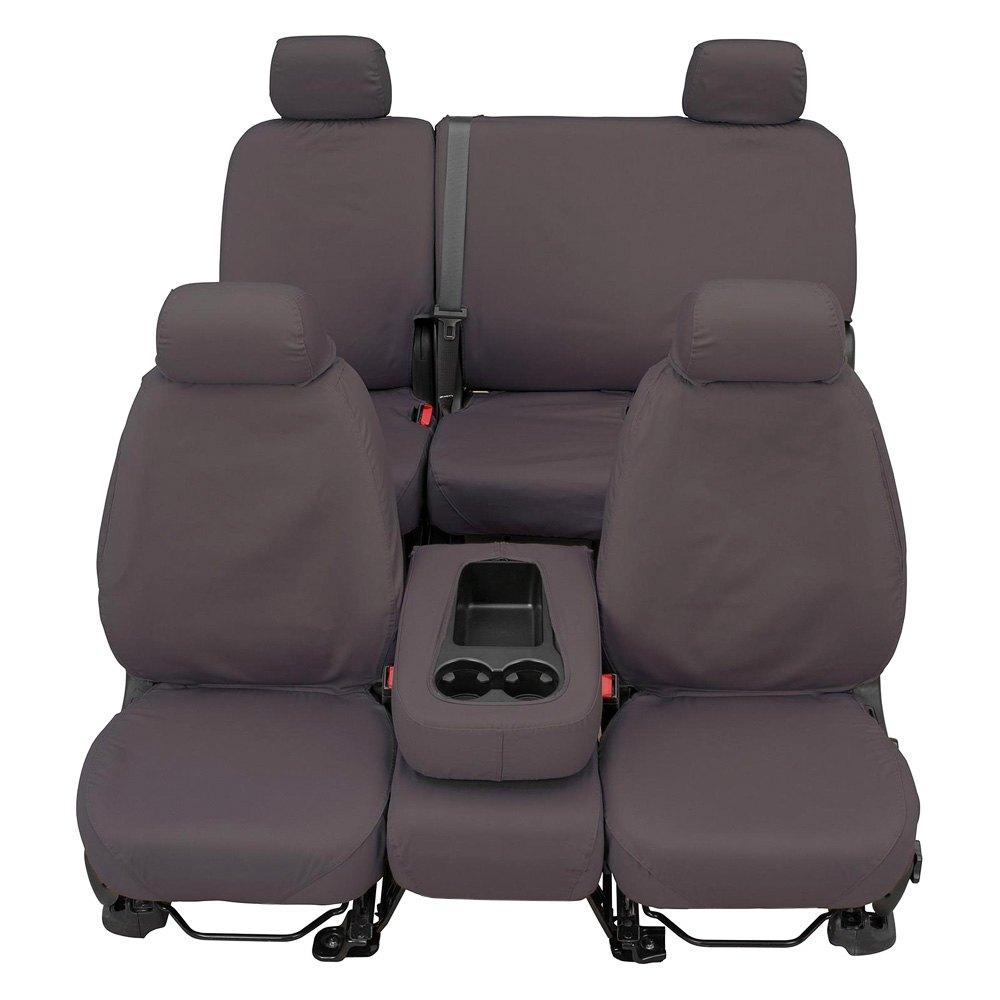 Grey SS8348PCGY Covercraft Custom-Fit Rear-Second Seat Bench SeatSaver Seat Covers Polycotton Fabric
