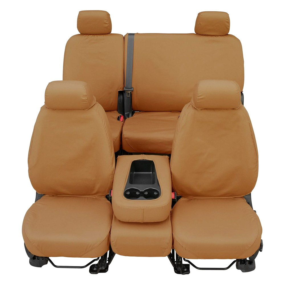 Polycotton Covercraft SS8393PCTN SeatSaver Second Row Custom Fit Seat Cover for Select Ford F-250 Super Duty//Ford F-350 Super Duty Models Tan