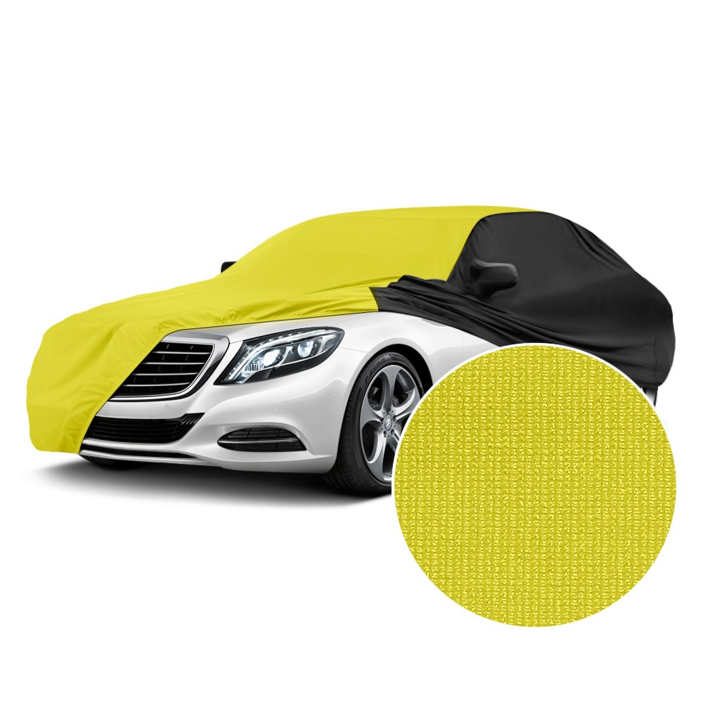 Super Soft Stretch Indoor Car Cover-Personalised Gift-Universal Fit-Black,Large