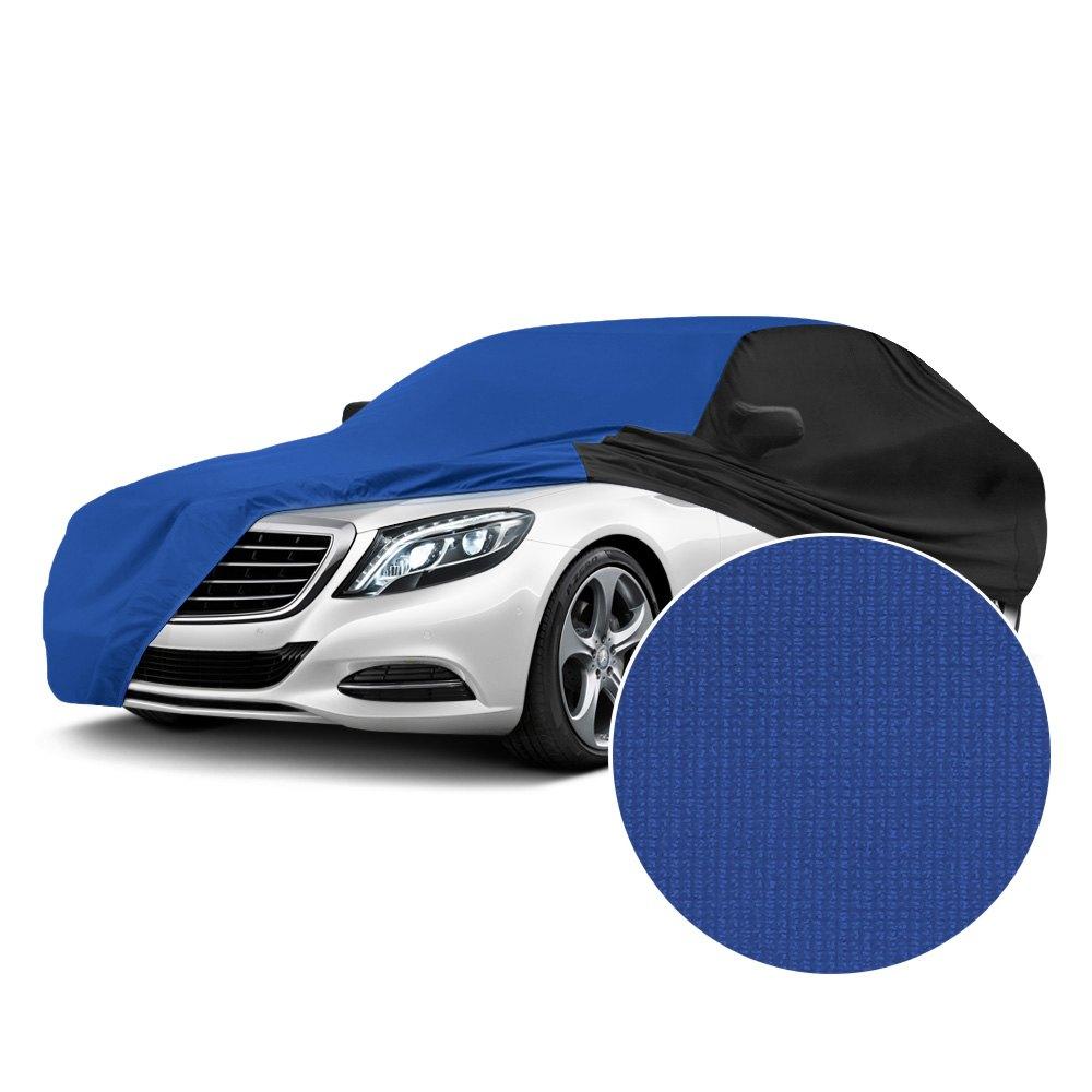 Coverking cvc5ss284hu7000 satin stretch indoor grabber blue custom car cover with black sides