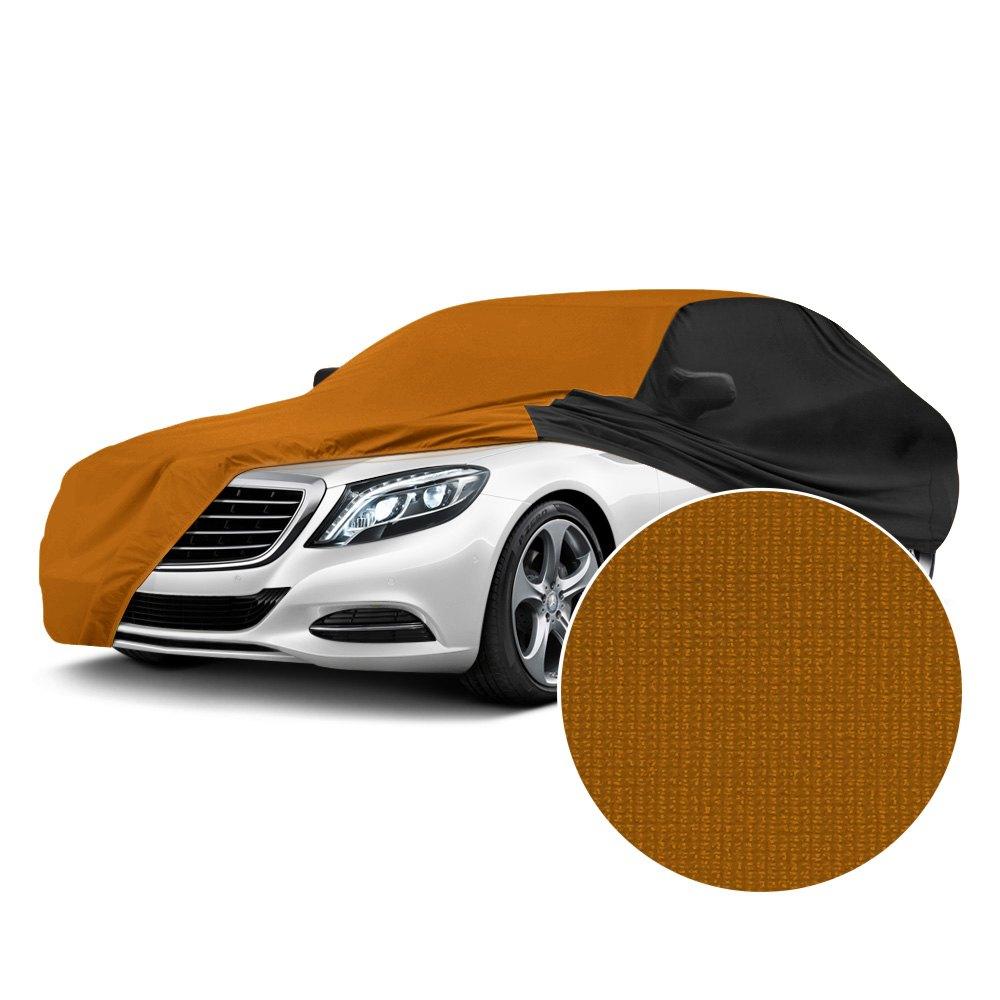 Coverking cvc3ss281ki9530 satin stretch indoor grabber orange custom car cover with black