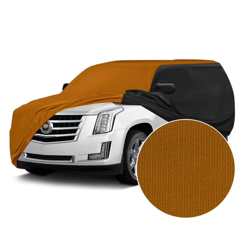Coverking cvc4ss281jp7142 satin stretch indoor grabber orange custom car cover with black