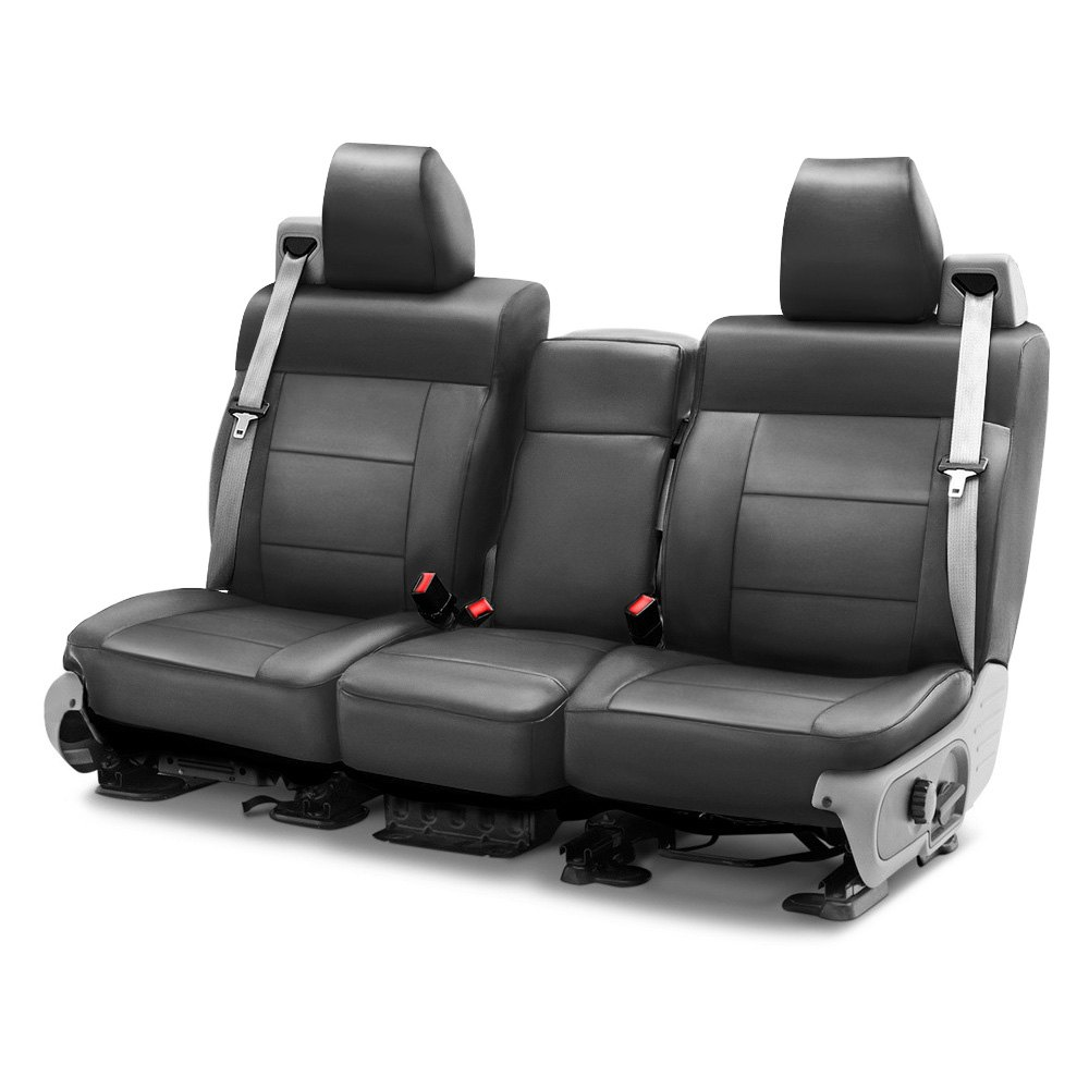 coverking csc1l3fd7406 genuine leather 1st row gray custom seat covers. Black Bedroom Furniture Sets. Home Design Ideas