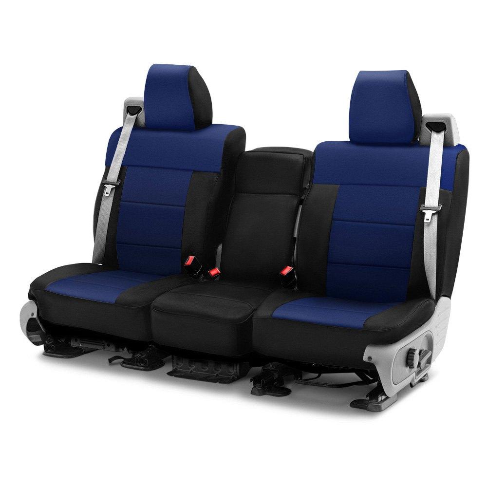 Astonishing Coverking Csc2A9Fd9884 Neosupreme 1St Row Black Navy Blue Custom Seat Covers Dailytribune Chair Design For Home Dailytribuneorg