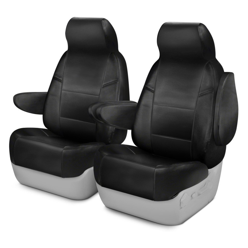 coverking csc1l1fd9796 genuine leather 1st row black custom seat covers. Black Bedroom Furniture Sets. Home Design Ideas