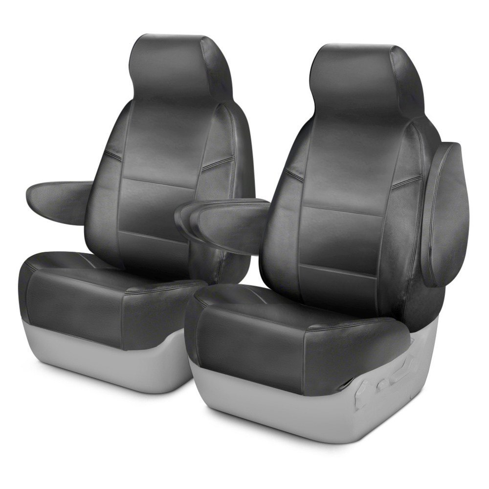coverking csc1l3ch7014 genuine leather 1st row gray custom seat covers. Black Bedroom Furniture Sets. Home Design Ideas