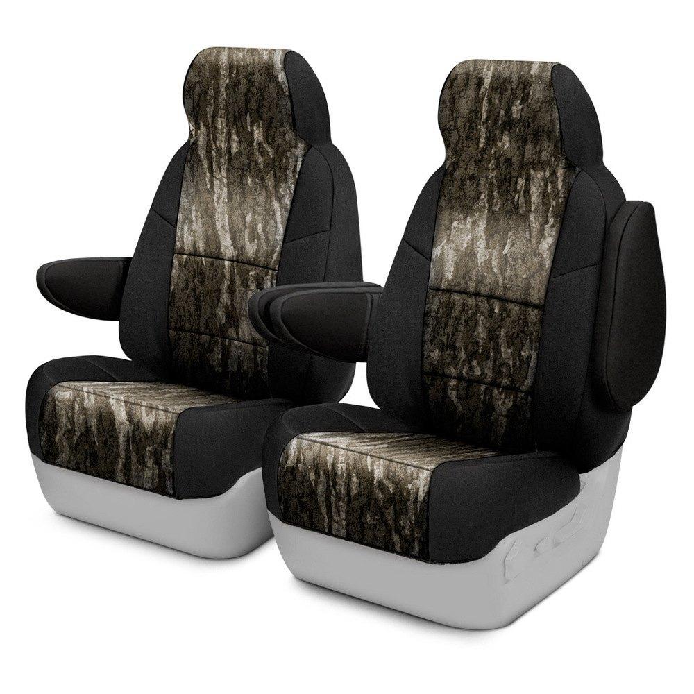Mossy Oak Seat Covers >> Coverking Csc2mo06tt9836 Mossy Oak 1st Row Camo Bottomland Custom Seat Covers