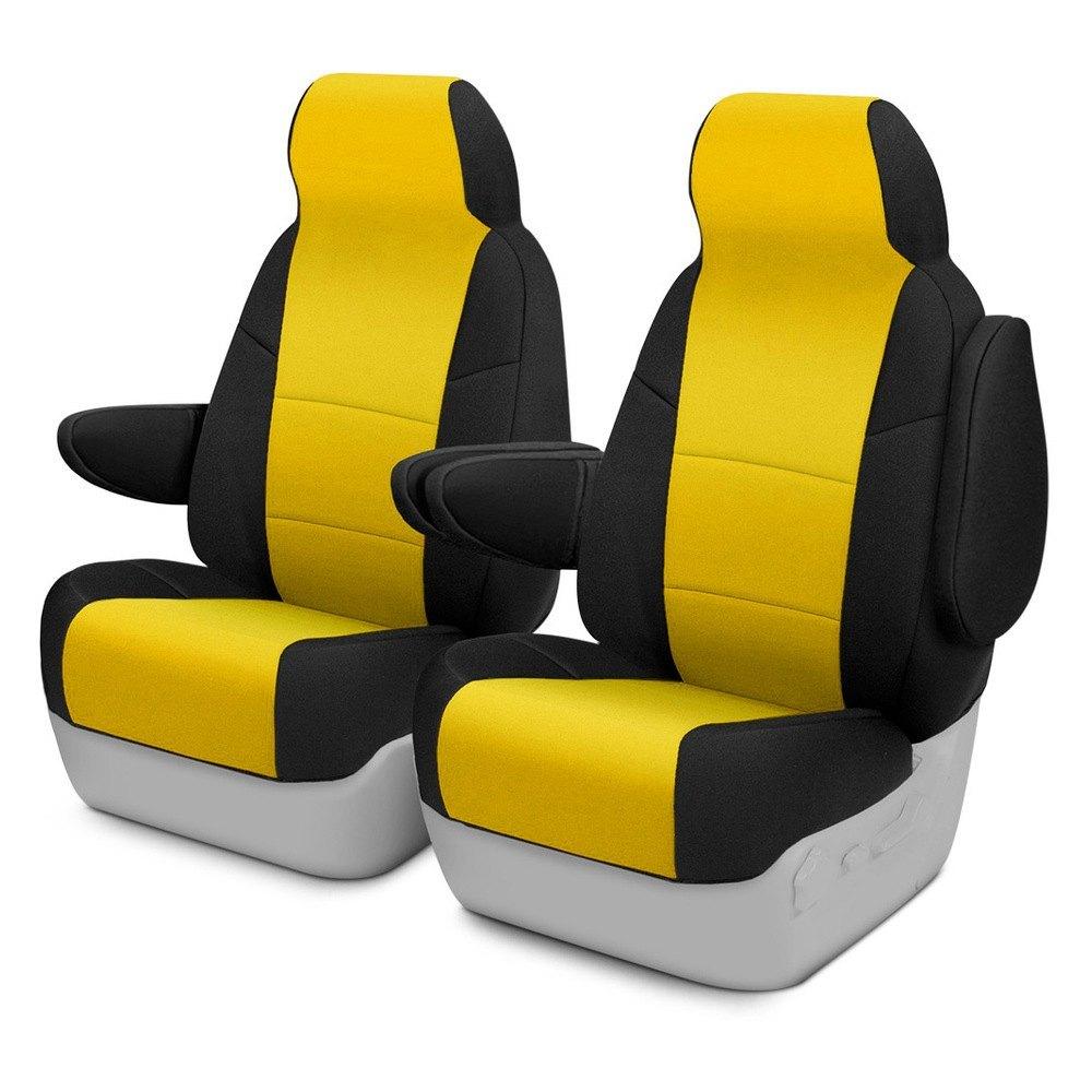 Cool Coverking Cscf5Hm7032 Cr Grade Neoprene 1St Row Black Yellow Custom Seat Covers Lamtechconsult Wood Chair Design Ideas Lamtechconsultcom