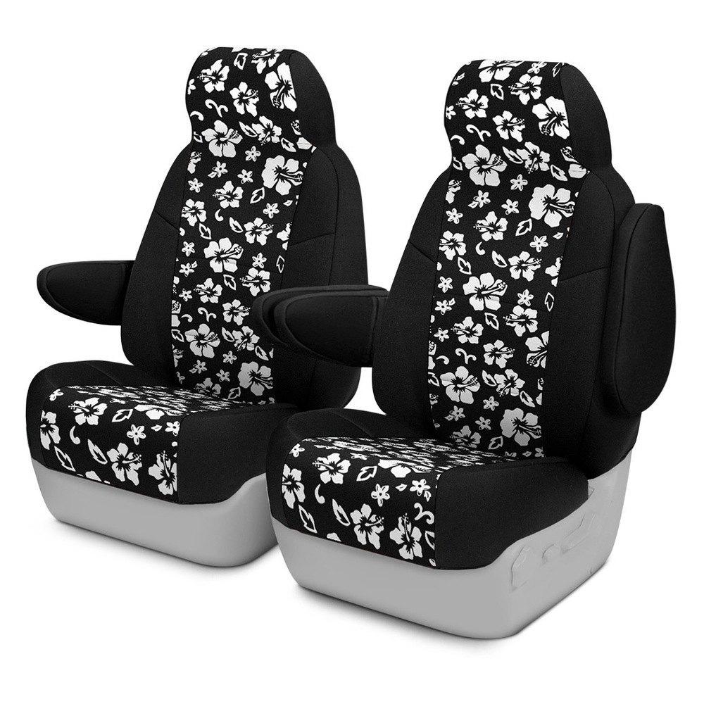 Hawaiian Car Seat Covers >> Coverking Cscf9cr9370 Cr Grade Neoprene 1st Row Black Hawaiian Black Custom Seat Covers