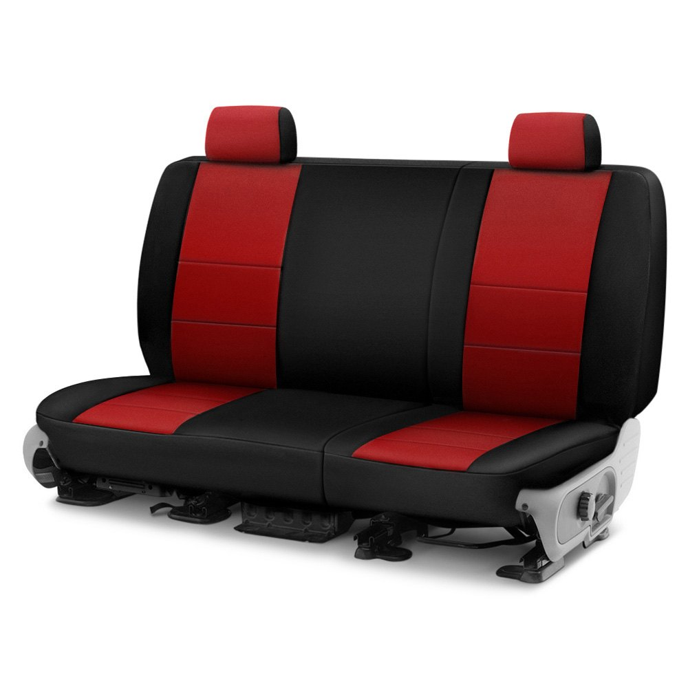 Coverking Cscf2jp9435 Cr Grade Neoprene 2nd Row Black Red Custom Seat Covers
