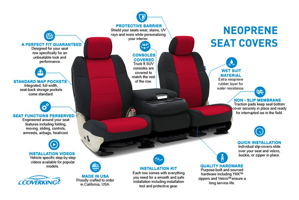 Prime Coverking Cscf5Gm9618 Cr Grade Neoprene 1St Row Black Yellow Custom Seat Covers Lamtechconsult Wood Chair Design Ideas Lamtechconsultcom