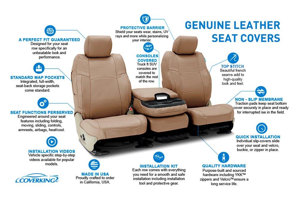 Surprising Coverking Genuine Leather Custom Seat Covers Bralicious Painted Fabric Chair Ideas Braliciousco
