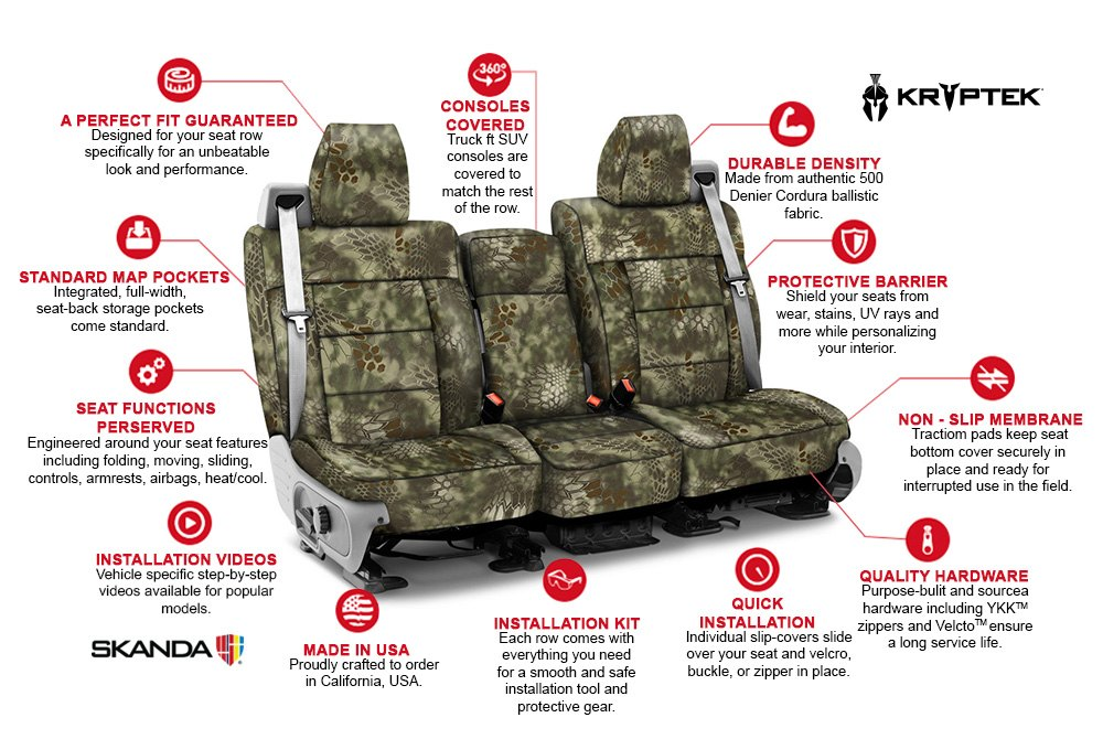 KryptekTM Camo Seat Covers