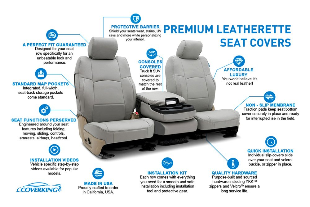 Excellent Coverking Leatherette Custom Seat Covers Pabps2019 Chair Design Images Pabps2019Com