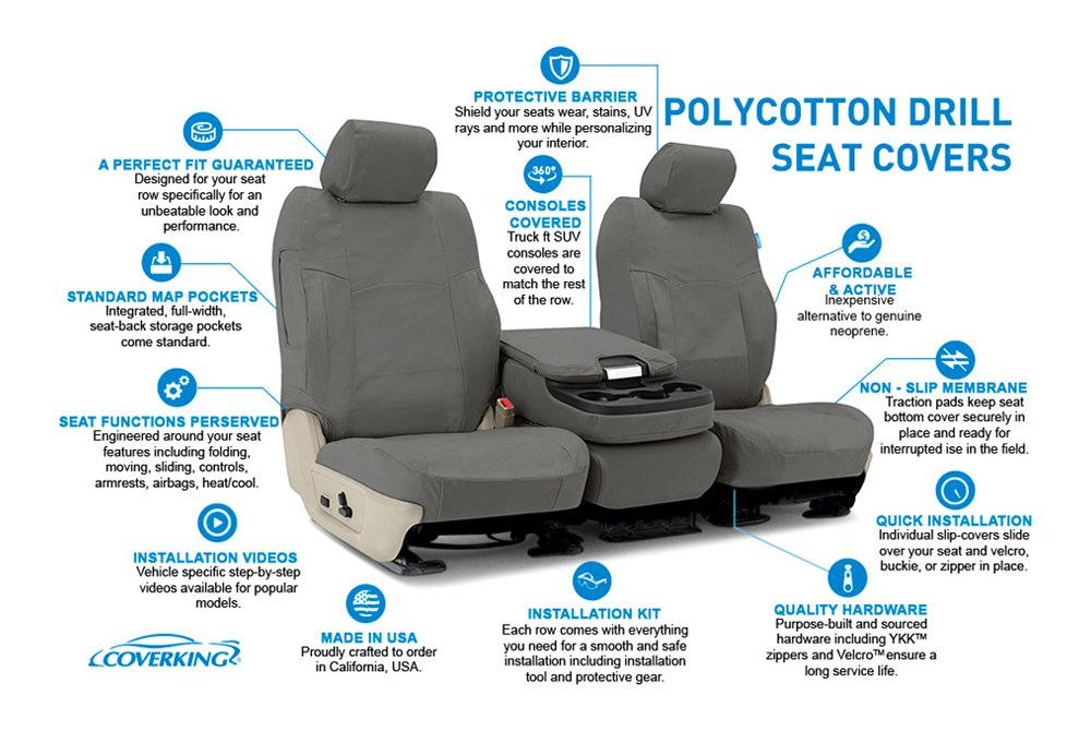 Polycotton Drill Custom Seat Covers