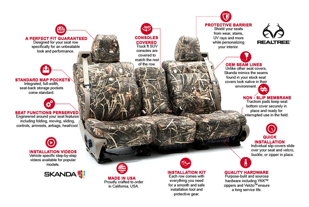 Awesome Coverking Realtree Camo Custom Seat Covers Bralicious Painted Fabric Chair Ideas Braliciousco