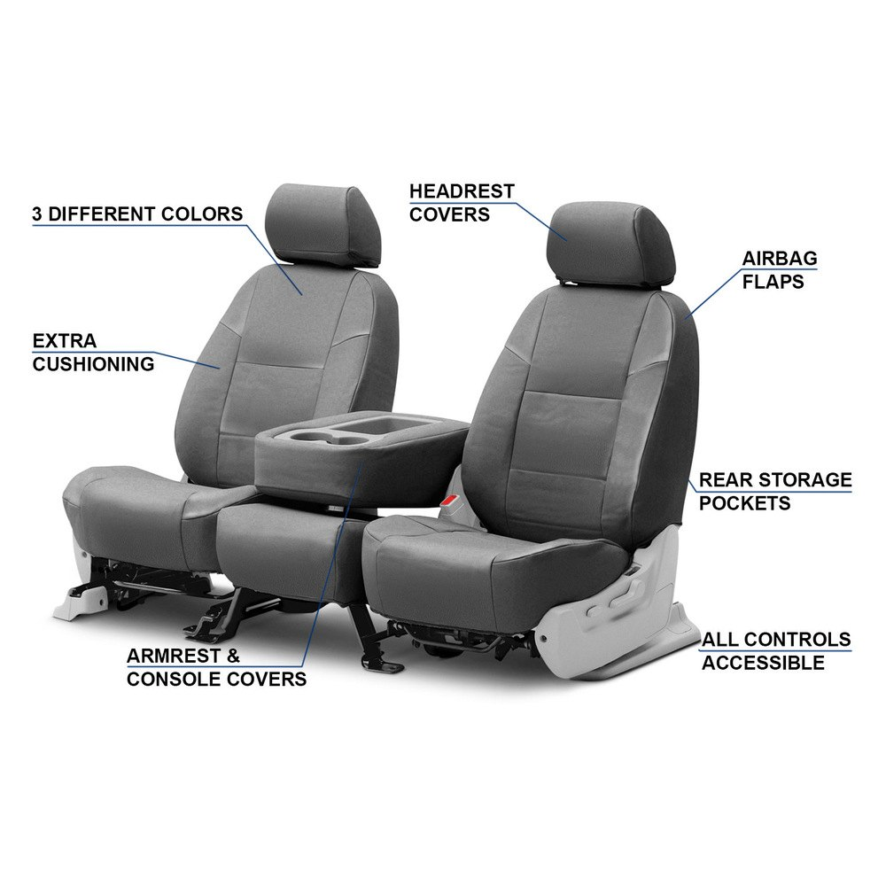 coverking chrysler pacifica 2017 genuine leather custom seat covers. Black Bedroom Furniture Sets. Home Design Ideas