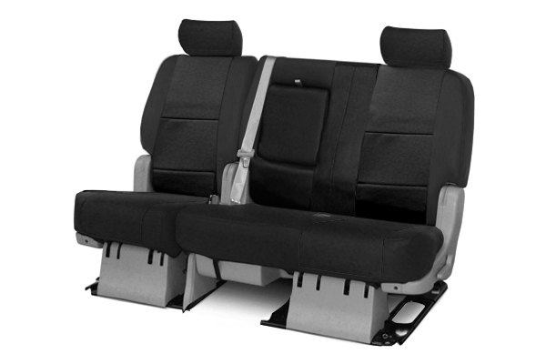 coverking 2nd row genuine leather custom black seat covers. Black Bedroom Furniture Sets. Home Design Ideas