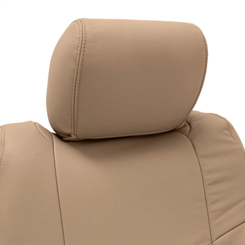 Fantastic Coverking Genuine Leather Custom Seat Covers Theyellowbook Wood Chair Design Ideas Theyellowbookinfo