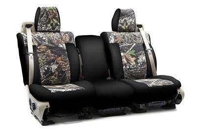 Coverking® - Custom Camouflage Seat Cover with Mossy Oak Brake up Pattern with Black Sides