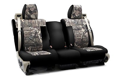Coverking® - Custom Camouflage Seat Cover with Mossy Oak Brake up infinity Pattern with Black Sides