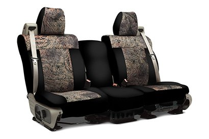 Coverking® - Custom Camouflage Seat Cover with Mossy Oak Brush Pattern with Black Sides