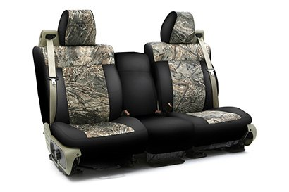 Coverking® - Custom Camouflage Seat Cover with Mossy Oak Duck Blind Pattern with Black Sides