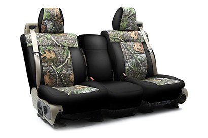 Coverking® - Custom Camouflage Seat Cover with Mossy Oak Obsession Pattern with Black Sides