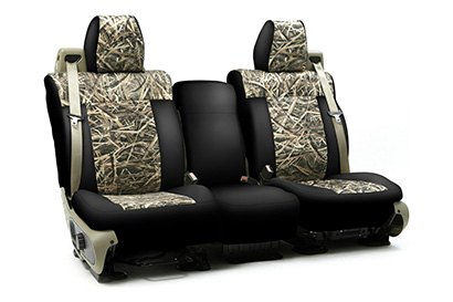 Coverking® - Custom Camouflage Seat Cover with Mossy Oak Shadow Grass Pattern with Black Sides