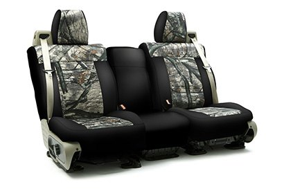 Coverking® - Custom Camouflage Seat Cover with Mossy Oak Treestand™ Pattern with Black Sides