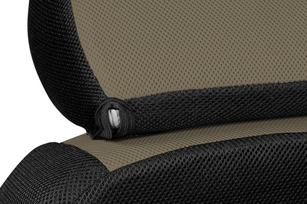coverking csc2s9ki9400 kia optima 2013 2014 1st row spacer mesh custom taupe seat covers with. Black Bedroom Furniture Sets. Home Design Ideas