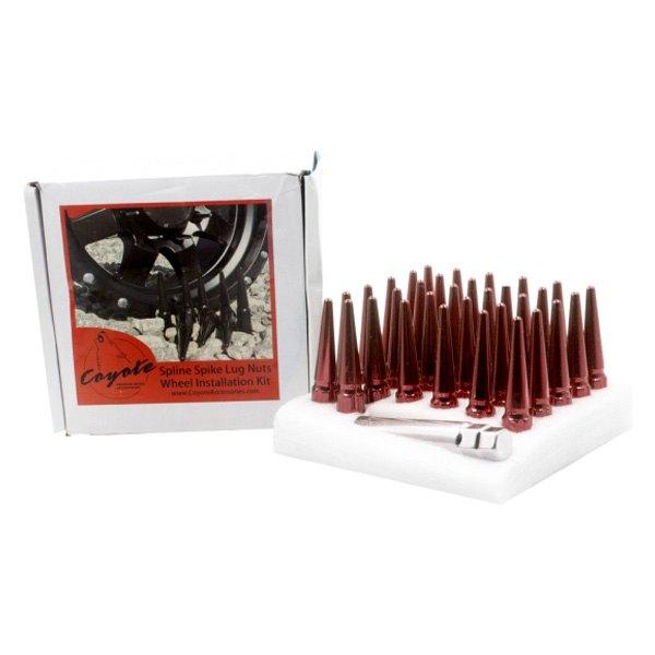 M14 1.5 Red Truck Spline Spike Wheel Accessories Parts Install Kit 8 Lug Spline