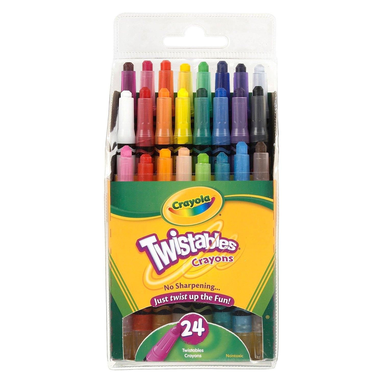 Crayola® 52-9724 - 24-Count Mini Twistables Crayons