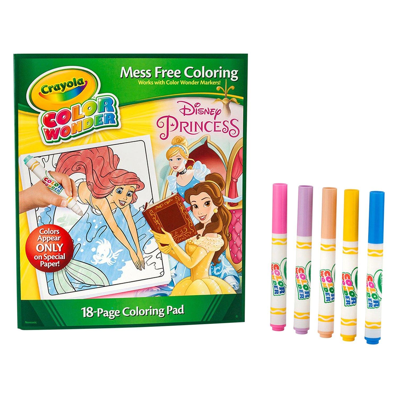 crayola color wonder disney princess coloring pad and markers - Crayola Disney