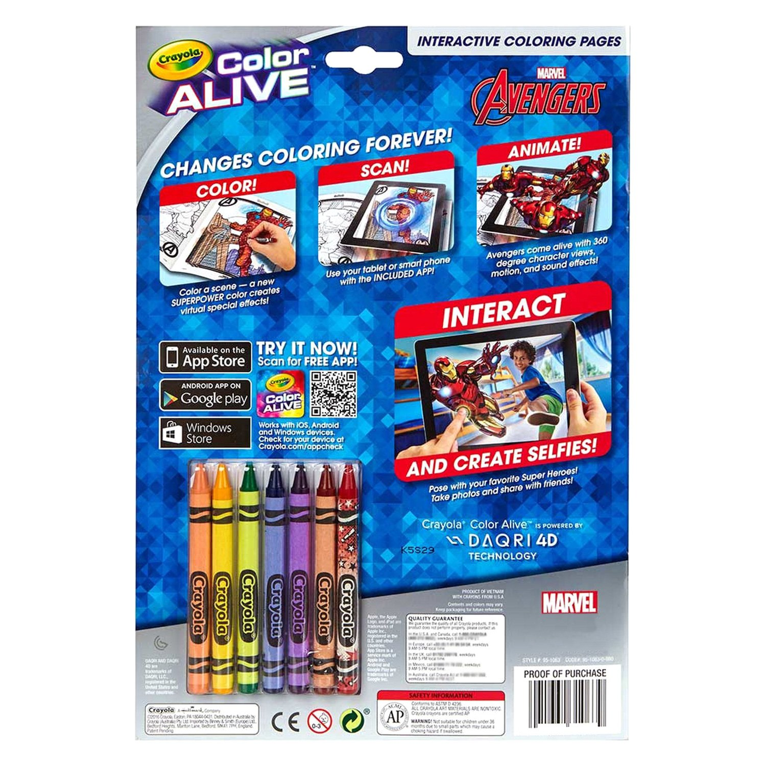 crayola 95 1063 avengers color alive action coloring pages