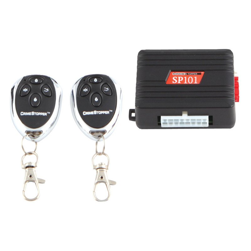 Crimestopper sp 101 1 way alarm and keyless entry system for Keyless entry system